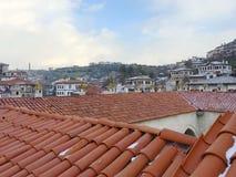 Safranbolu alloggia il panorama dal tetto di Cici Han Safranbolu si è aggiunto alla lista dell'Unesco Wo Immagine Stock