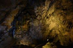 Safranbolu Bulak Mencilis Cave. Cave cavern cave hollow mains outlet stalactite stalagmite light sub drip stone under below nature rock Stock Photography