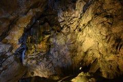 Safranbolu Bulak Mencilis Cave. Cave cavern cave hollow mains outlet stalactite stalagmite light sub drip stone under below nature rock Stock Images