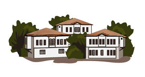 Safranbolu domy royalty ilustracja