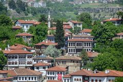 Traditional Ottoman houses in Safranbolu stock photo
