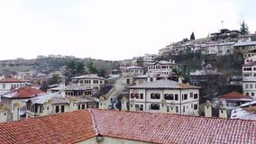 Safranbolu houses panorama from the roof of Cici Han.Safranbolu was added to the list of UNESCO Wo stock footage