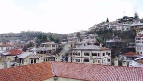 Safranbolu inhyser panorama från taket av Cici Han Safranbolu tillfogades till listan av UNESCO Wo arkivfilmer