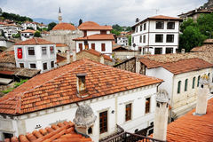 Safranbolu ottoman old houses. Architecture detail with ottoman traditional houses in turkish historical city of Safranbolu Royalty Free Stock Photo