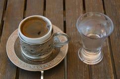 Safranbolu Turkish Coffee. Old Ottoman Empire coffee presentation in Safranbolu Royalty Free Stock Photo