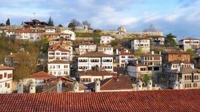 SAFRANBOLU, TURQUIA - EM MAIO DE 2015: Vila anatólia do otomano tradicional video estoque