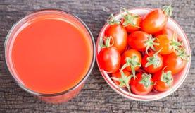 Saft der Tomaten Lizenzfreie Stockfotografie