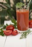Saft der Tomaten lizenzfreie stockbilder