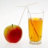 Saft und Apfel Lizenzfreie Stockfotos