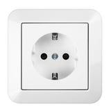 Saftey socket. White european power saftey socket royalty free stock image