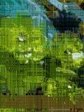 saftig grön rundad bakgrund royaltyfri illustrationer