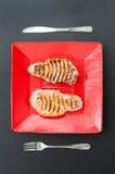 Saftig grillad grisköttfransyska Royaltyfria Bilder