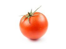 Saftig isolerad tomat i vit bakgrund Arkivbild