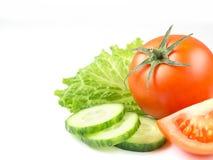 Saftig isolerad tomat i vit bakgrund Royaltyfria Foton