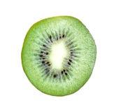 Saftig kiwiskivafrukt som isoleras på vit Arkivfoto
