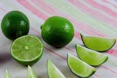 Saftig limefrukt Arkivfoto