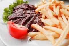 saftig meatsteak för nötkött Arkivbilder