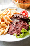 saftig meatsteak för nötkött Arkivbild