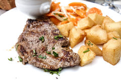 saftig meatsteak för nötkött Arkivfoto