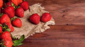Saftig mogen jordgubbe Arkivbild