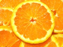 saftig orange Arkivfoton