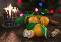 Saftig orange tangerin Fotografering för Bildbyråer