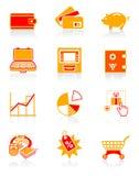 saftig pengarserie för symboler royaltyfri illustrationer