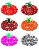 saftig röd tomat stock illustrationer