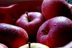 saftiga äpplen arkivfoto