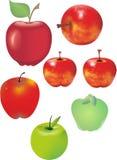 Saftiga äpplen Royaltyfria Bilder
