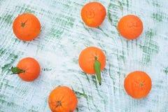 saftiga clementines Arkivbilder