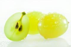 Saftiga gröna druvor Fotografering för Bildbyråer