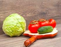 saftiga grönsaker Arkivbilder