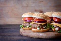 Saftiga hamburgare Royaltyfri Foto