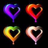 saftiga hjärtor stock illustrationer