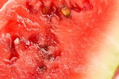 Saftiga kött av vattenmelon som en bakgrund close Fotografering för Bildbyråer
