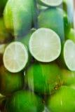 Saftiga limefrukter Arkivbild