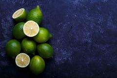 Saftiga mogna limefrukter Royaltyfri Foto