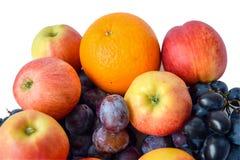 Saftiga nya frukter Fotografering för Bildbyråer