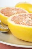saftiga nya grapefrukter Fotografering för Bildbyråer