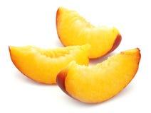 saftiga persikaskivor Arkivfoto
