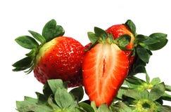 Saftige Erdbeeren Stockfoto