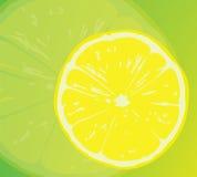 Saftige gelbe Zitrone. Lizenzfreies Stockbild