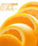 Saftige orange Scheiben Stockfotos