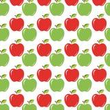 Saftige reife Äpfel mit Blätter backgound lizenzfreie abbildung