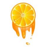 Saftige Scheibe der orange Frucht lizenzfreie abbildung