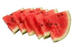 Saftige Wassermelonen-Stücke lizenzfreies stockfoto