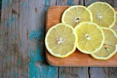 Saftige Zitronescheiben Stockfotografie