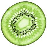 Saftiger organischer Kiwifruit lokalisierte Zusammensetzung Lizenzfreies Stockbild