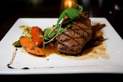 Saftiges Angus-Steak Stockbild